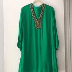 Beaded mini shift dress